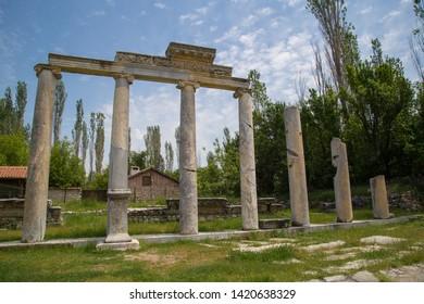 Ancient ruins at Aizonai, Anatolia, Turkey