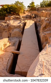 Ancient ruins around the Unfinished Obelisk in Aswan, Egyptt