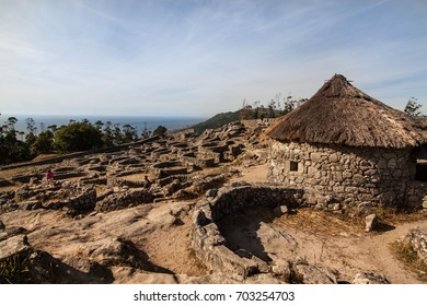 Ancient ruins, celtic village in Galicia, north Spain, Santa Tecla, La Guardia