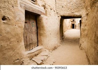 The ancient Ruins of El-Qasr in Dachla
