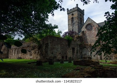 Ancient ruins and gothic building of the Culross Abbey, Scotland