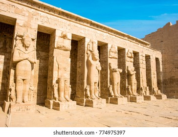 Ancient ruins of the great temple of Hatshepsut, Karnak temple, Luxor, Egypt