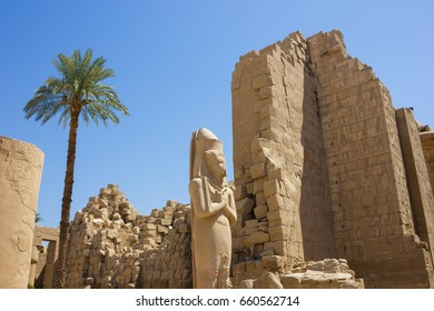 Ancient ruins of Karnak temple in Egypt in the summer of 2012