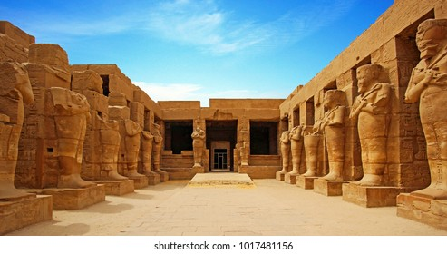 Ancient ruins of Karnak temple in Luxor. Egypt - Shutterstock ID 1017481156