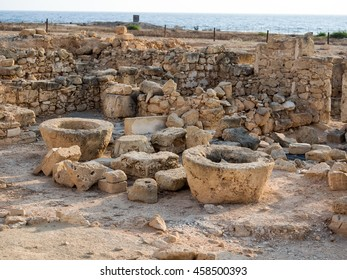 Ancient ruins of Kato Paphos archeological site. Cyprus.