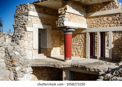 Ancient ruins of The Knossos Palace, Heraklion, Crete, Greece