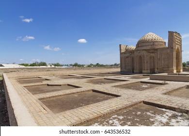 The ancient ruins of Konye Urgench, Turkmenistan -Najm ad-Din al-Kubra Mausoleum