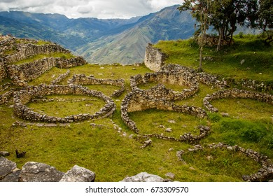 Ancient ruins of lost city in Kuelap, Peru