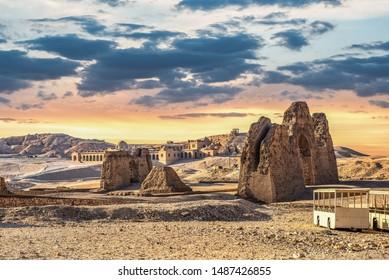 Ancient ruins near Hatshepsut temple in Luxor, Egypt