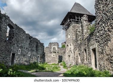 Ancient ruins of the Nevitsky Castle near Uzhhorod, Ukraine.