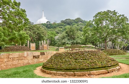 Ancient ruins  in old city Mihintale - Sri Lanka