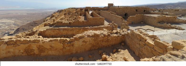 Ancient ruins on Mount Masada