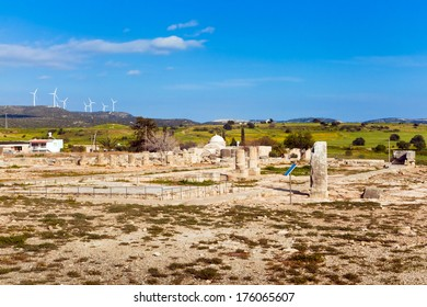Ancient ruins in Paphos, Cyprus - part of UNESCO world heritage