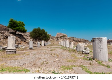 Ancient ruins in Pergamon, Turkey