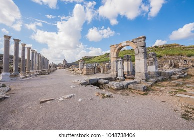 Ancient ruins of Perge. Agora.Turkey.