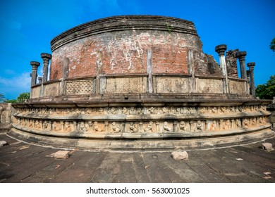 Ancient ruins. Polonnaruwa temple. Sri Lanka
