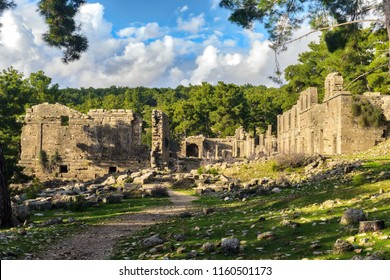 The ancient ruins of Seleucia (Pamphylia)