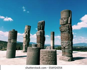 ancient ruins of Tula de Allende, toltec warriors