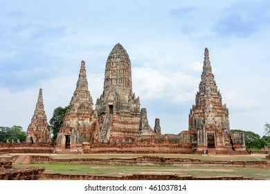 Ancient Ruins of Wat Chai Watthanaram in Ayutthaya Thailand