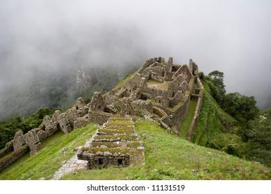 Ancient ruins of Winay wayna near Machu Picchu