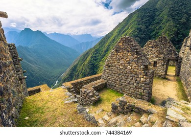 Ancient ruins of Winay Wayna on the Inca Trail, Peru