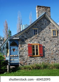 Ancient rural stone house in Quebec Canada