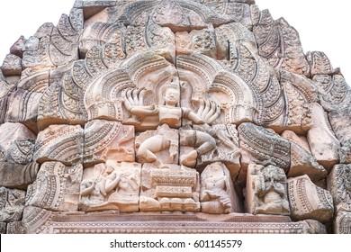 Ancient sandstone architecture of Prasat Khao Panom Rung, Buriram, Thailand.