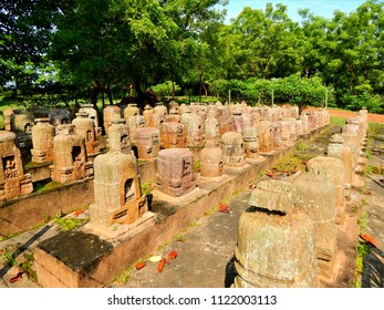 Ancient Sculpture of Bouddhist Monastery of 800 A.D at  Ranagiri Odisha , India .