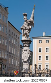 Ancient sculpture in Kartner strasse, Austria