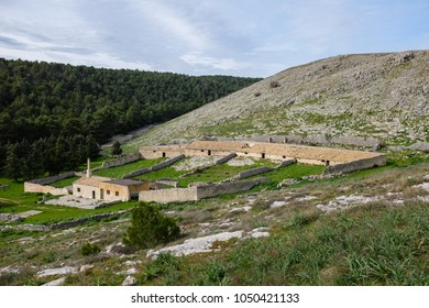 Ancient sheepfold called Jazzo typical of Murgia region. Apulia, Italy.