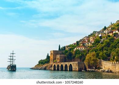 "Ancient shipyard ""Tersane"" in Alanya Castle. Alanya, Turkey"