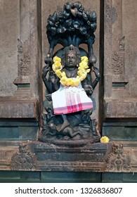 Ancient Shiva statue in the Ramana Ashram in Tiruvanamalai India