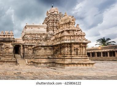 Ancient Shiva temple (Hindu) at Darasuram, Tamil Nadu, India built by Chola kings