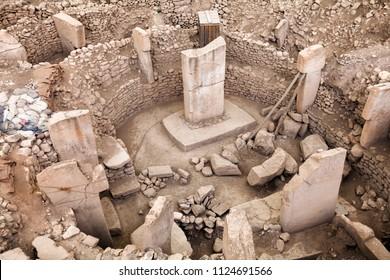 Ancient Site of Gobekli Tepe in SanliUrfa, Turkey (Göbeklitepe The Oldest Temple of the World). Gobekli Tepe is a UNESCO World Heritage site.