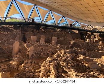Ancient Site of Gobekli Tepe in SanliUrfa, Turkey