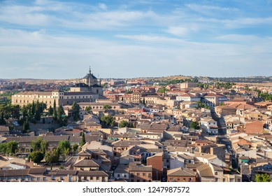 ancient spanish city Toledo in sunset light