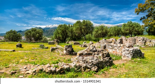 The Ancient Sparta archaeological site in Greece