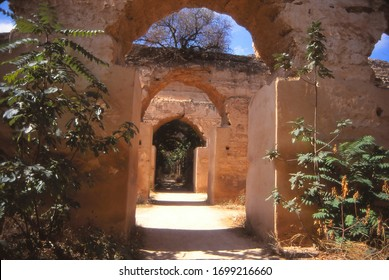 Ancient stable walls and columns,  Meknes, Morocco