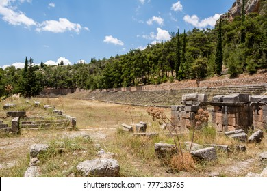 Ancient stadium at Delfi , Greece