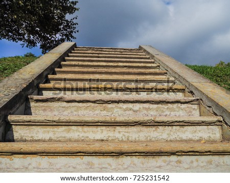 Charmant An Ancient Staircase, Disappearing Into The Sky. Stairway To Heaven.