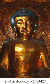 Ancient statue of Amitabha, Temple of Six Banyans, China