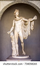 Ancient statue Apollo Belvedere in Vatican, Italy