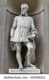 Ancient statue of italian important reinassance people: Cellini