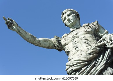 Ancient statue of Julius Caesar in Naples