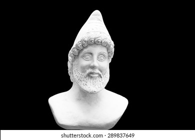 Ancient statue of Odysseus isolated on a black background. Odysseus  also known by the Latin name Ulysses  was a legendary Greek king of Ithaca and a hero of Homer's epic poem the Odyssey.