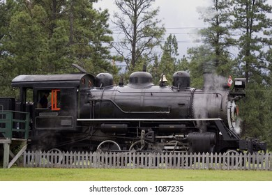 ancient steam locomotive - in the wild west of canada