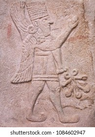 Ancient stone bas-relief of latte Hittite period from Arslantepe ancient city, Turkey