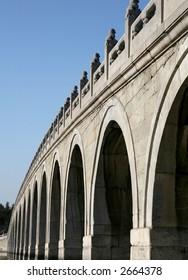 Ancient stone bridge in SUMMER PALACE, Beijing.