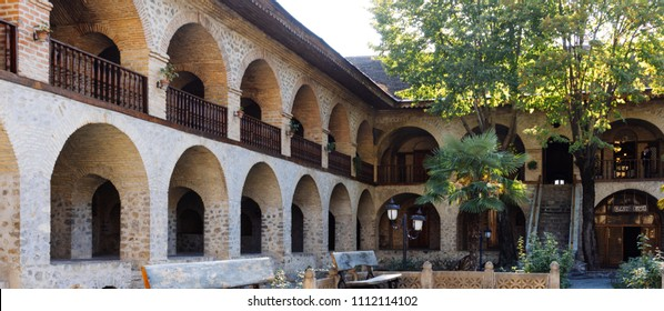 Ancient stone building, European architecture, beautiful house