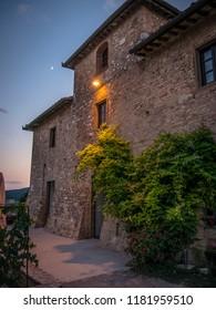 Ancient stone house of San Gimignano (Tuscany)